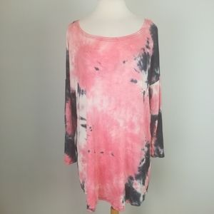 Simply Southern Tie Dyed Twist Back Top Size 1X
